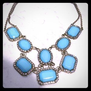 3/$15 Mint Crystal Statement Necklace